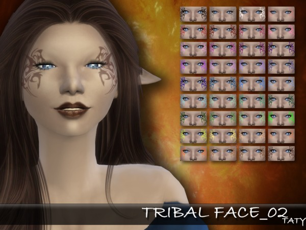 The Sims Resource: Tribal Face02 by Taty