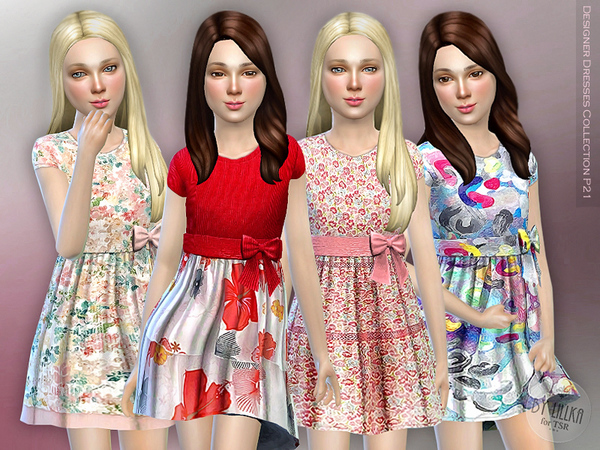 The Sims Resource: Designer Dresses Collection P21 by lillka
