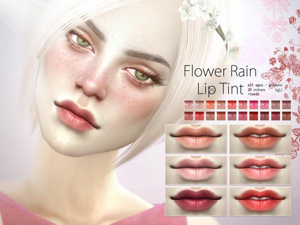 The Sims Resource: Flower Rain Lip Tint N61 by Pralinesims