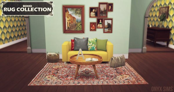 Onyx Sims: The Rug Collection   Boho