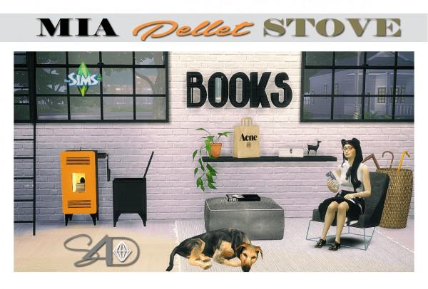 Sims 4 Designs: MIA Pellet Stove Fireplace