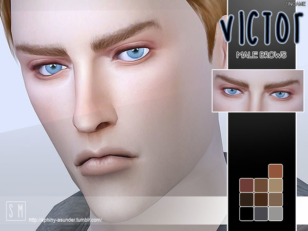 The Sims Resource: Victor   Male Brows by Screaming Mustard