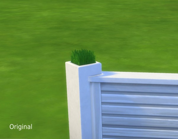 Mod The Sims: Tuftless Fencepost Mesh Override by plasticbox