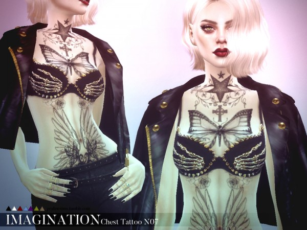 The Sims Resource: Imagination Chest Tattoo N07 by PralineSims