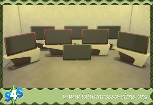 La Luna Rossa Sims: InvisiView Flat Panel Tabletop TV