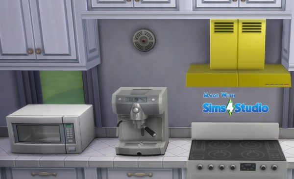 Mod The Sims: Wall Mounted Stove Hood by wendy35pearly