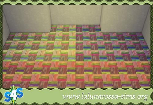 La Luna Rossa Sims: Playground Wood Tiles (Small)