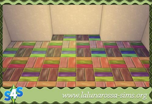 La Luna Rossa Sims: Playground Wood Tiles (Big)