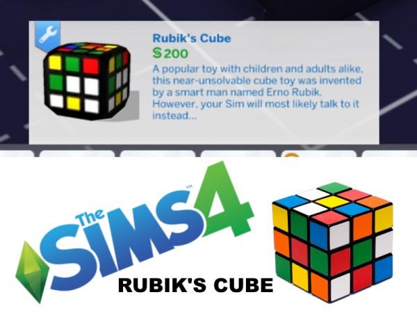 Mod The Sims: Rubiks Cube CC by farwayy
