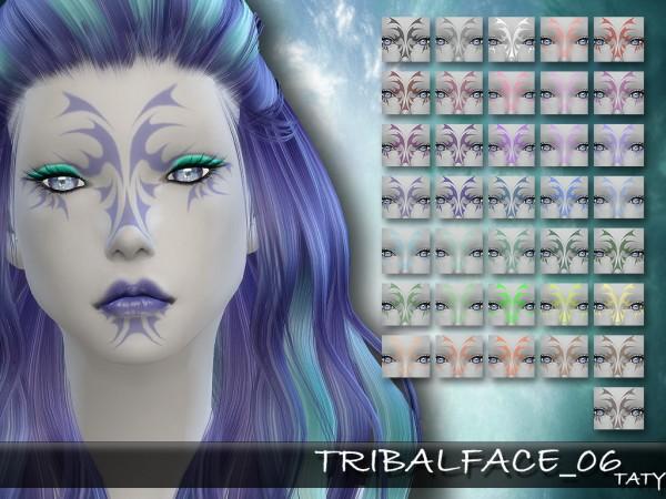 Simsworkshop: Taty Tribal Face 06