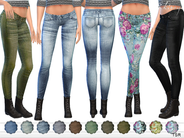 The Sims Resource: Skinny Jeans by Ekinege