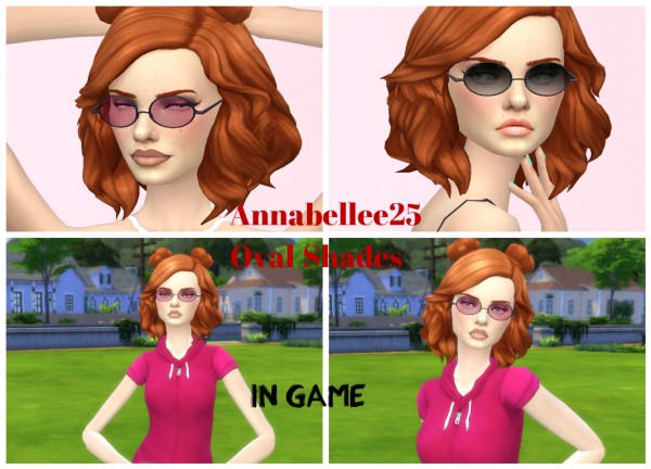 Simsworkshop: Oval Shades Glasses by Annabellee25