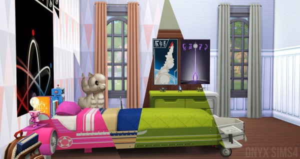 Onyx Sims: The Airplane Bedroom