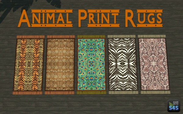 Mod The Sims: Animal Print Rugs by silverwolf 6677