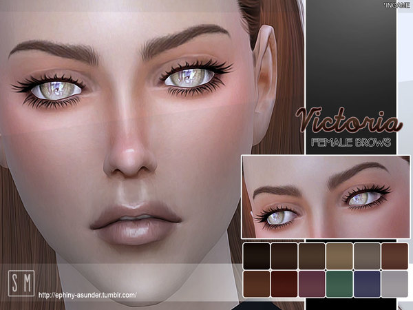 The Sims Resource: [ Victoria ]   Female Brows by Screaming Mustard