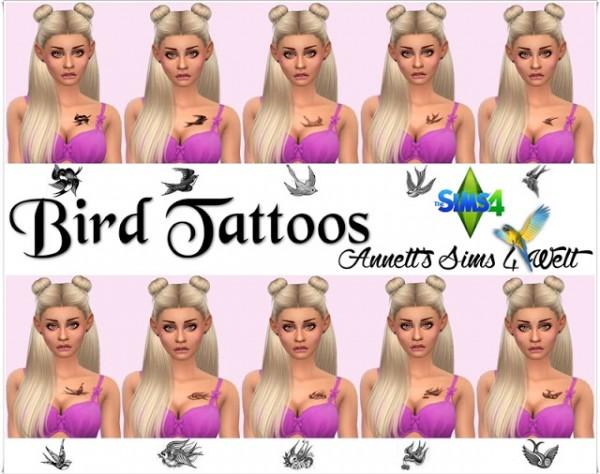 Annett`s Sims 4 Welt: Bird Tattoos