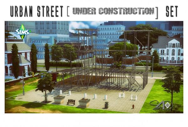 Sims 4 Designs: Urban Street [Under Construction] Set