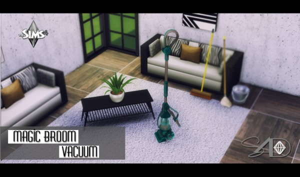 Sims 4 Designs: Magic Broom Vacuum