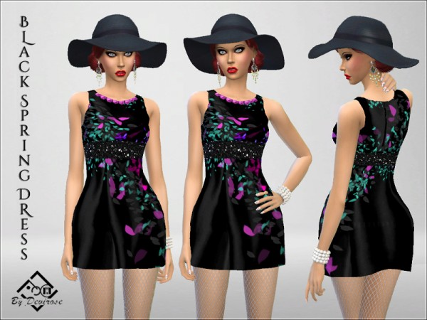 The Sims Resource: Spring Dresses Set by Devirose