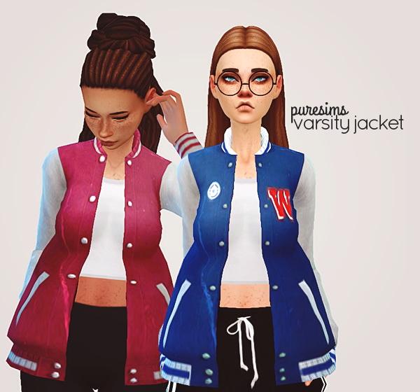 Pure Sims: Varsity jacket acc