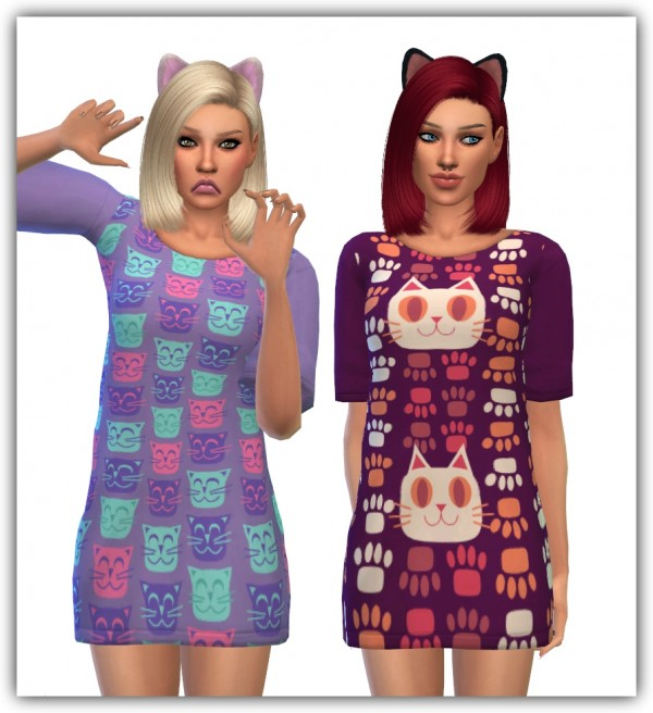 Simsworkshop: Sentate 's Milk dress recolors by  maimouth Womens Sentate 's Milk dress recolors   Puurty Edition 2016 04 05 maimouth