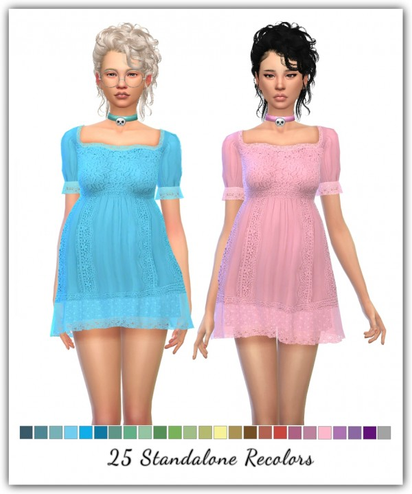 Simsworkshop: Sunset Dress Recolors by toksik