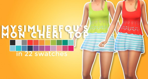 Simsworkshop: Mon cheri top recolored by Maimouth