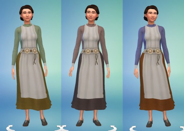 History Lovers Sims Blog: Celtic Short Dress and Cape