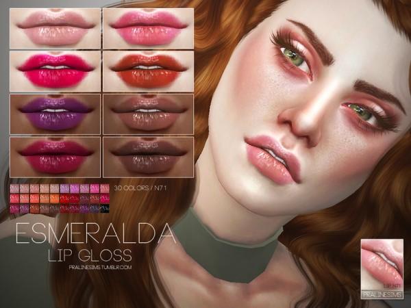 The Sims Resource: Esmeralda Lip Gloss N71 by Pralinesims