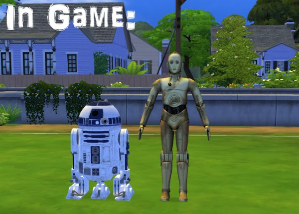 History Lovers Sims Blog: R2D2 & C3PO Star Wars