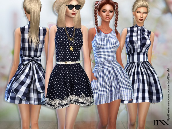 The Sims Resource: Lola Spring Cotton Dress by EsyraM