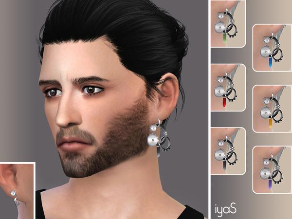 The Sims Resource: Asymmetrical Steampunk earrings by Soloriya