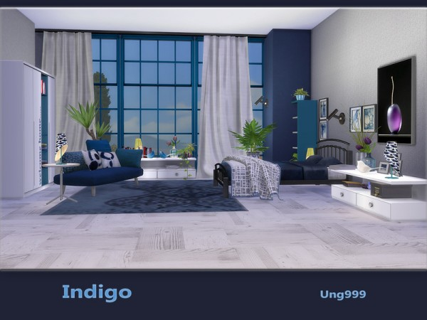 ... The Sims Resource: Indigo Bedroom By Ungg999 ...