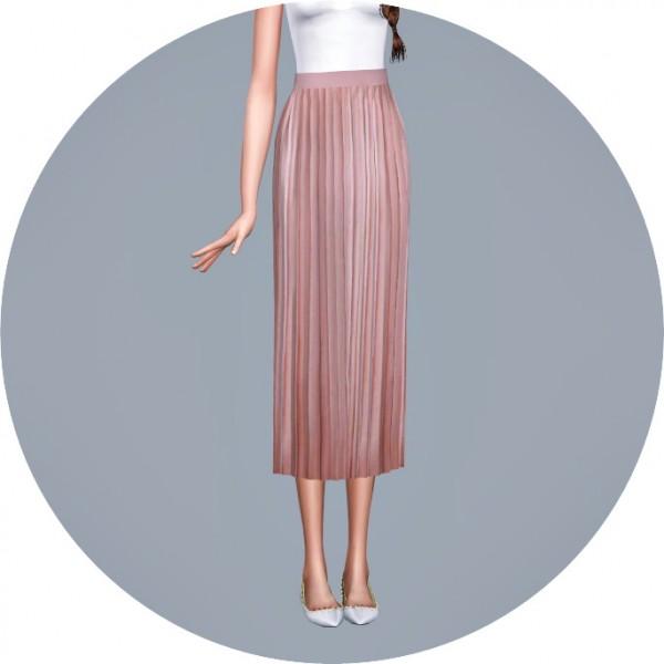 SIMS4 Marigold: Accordion Long Skirt