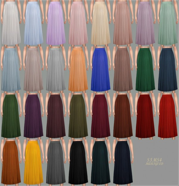 Sims4 Marigold Accordion Long Skirt Sims 4 Downloads