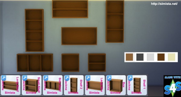 Simista Stackme Shelving Sims 4 Downloads
