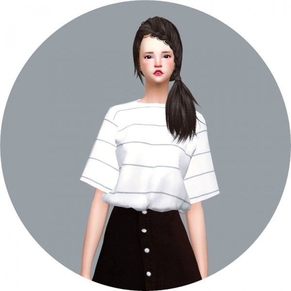 Sims4 Marigold Tucked In Boxy Tee Sims 4 Downloads