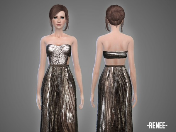 The Sims Resource: Renee   gown by April