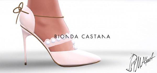 MA$ims 3: Bionda Castana Pearl Pumps