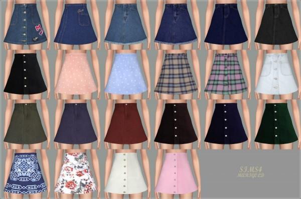 sims4 marigold high waist a line skirt sims 4 downloads