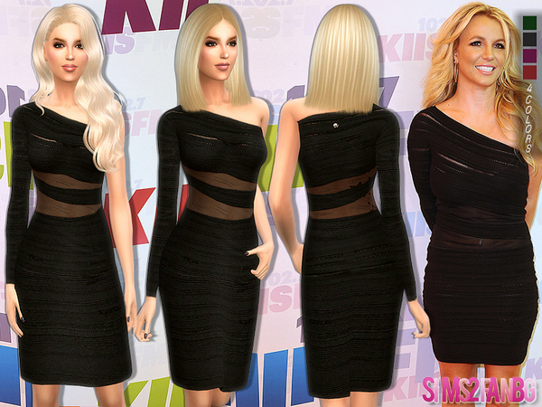 The Sims Resource: 160   Britney Spears Dress by sims2fanbg