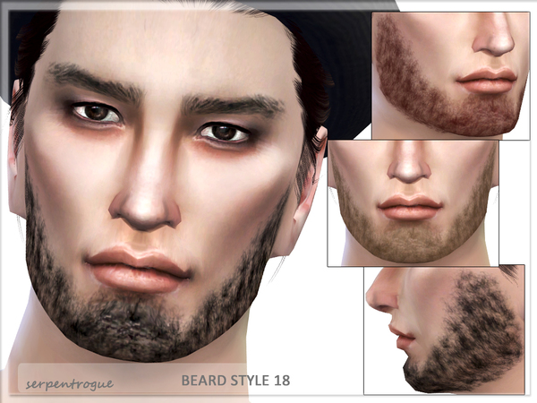 The Sims Resource: Beard Style 18 by Serpentrogue