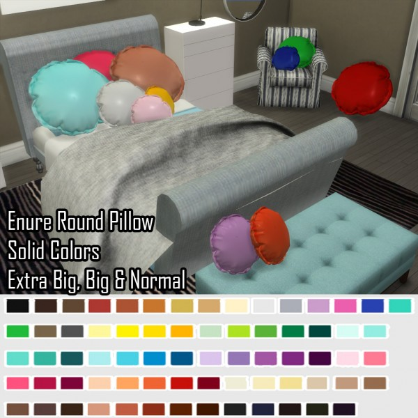 Enure Sims: Enure Round Pillow Solid Colors