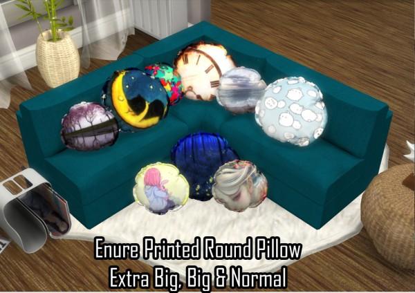 Enure Sims: Printed Round Pillow