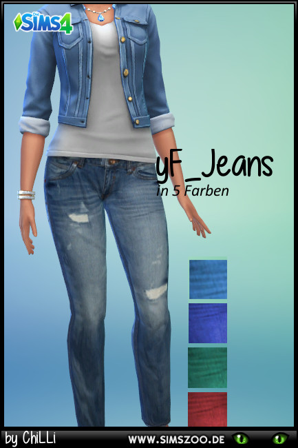 Blackys Sims 4 Zoo: Jeans 1 by ChiLLi