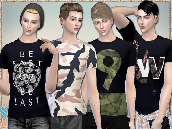 The Sims Resource: Fast Or Last T Shirts For Men by Simlark