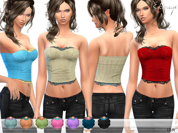 The Sims Resource: Lace Insert Corset by ekinege