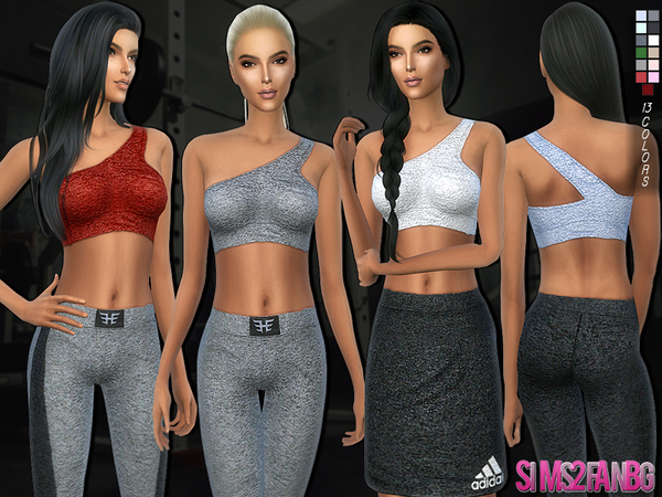 The Sims Resource: 164   Athletic top by sims2fanbg