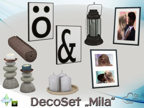 The Sims Resource: Mila DecorSet by BuffSumm
