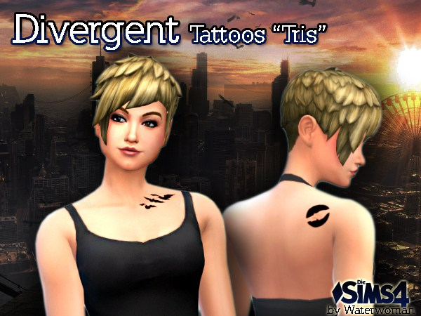 Akisima sims blog divergent tattoos tris sims 4 for Divergent tattoo tris